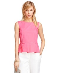 Brooks Brothers Sleeveless Peplum Shirt