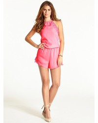 GUESS The Flirty Romper With Lace