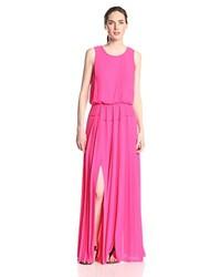 Jenine hi slit pleated skirt maxi dress medium 227588