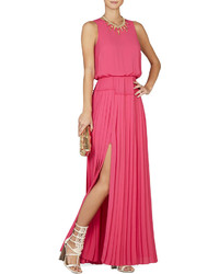 Jenine high slit pleated skirt maxi dress medium 227586