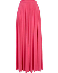 River Island Pink Pleated Maxi Skirt