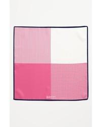 J.Z. Richards Silk Pocket Square Pink One Size