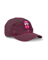 Fendi Karlito Appliqud Polka Dot Tech Jersey Baseball Cap