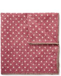 Brunello Cucinelli Polka Dot Wool Pocket Square