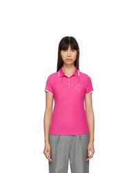 Moncler Pink Logo Polo
