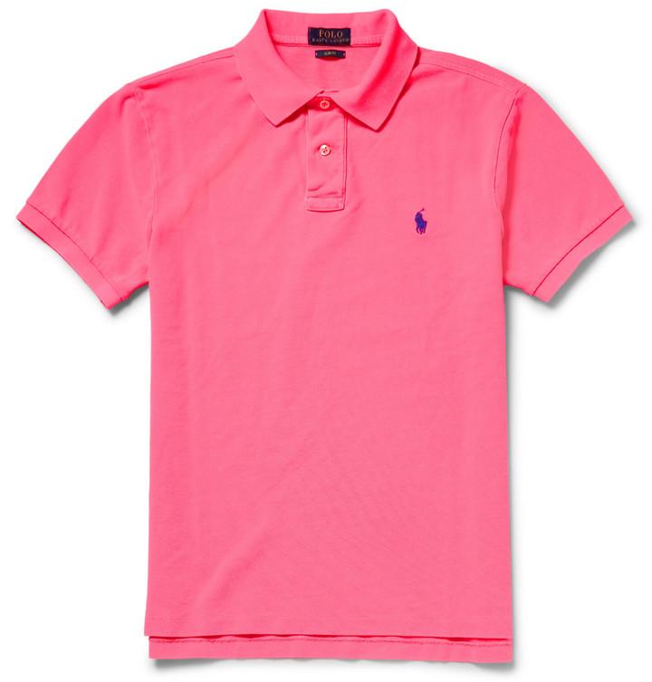 ... Polo Ralph Lauren Slim Fit Cotton Piqu Polo Shirt ...