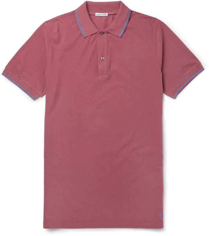 901c5c78b93c Tomas Maier Slim Fit Contrast Tipped Cotton Piqu Polo Shirt