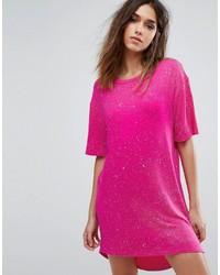 Splatter print t shirt dress medium 4420873