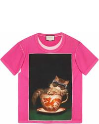 4872124b5 Women's Hot Pink T-shirts by Gucci | Women's Fashion | Lookastic.com