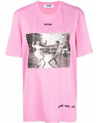 MSGM Photographic Print T Shirt
