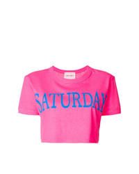 Alberta Ferretti Saturday Cropped T Shirt
