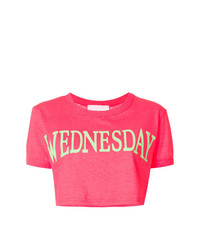 Alberta Ferretti Wednesday Cropped T Shirt