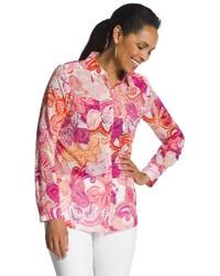 Chico s blissful flowers shirt medium 1159206