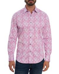 Robert Graham Betts Regular Fit Geometric Stretch Button Up Shirt