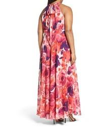 c9847f83a42 Eliza J Floral Print Halter Maxi Dress