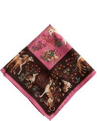Drakes wool pocket square in unicorns medium 165604