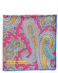 Peter Millar Silk Paisley Pocket Square