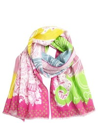 Hot Pink Print Scarf