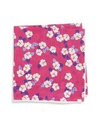 Southern Tide Hanatei Hibiscus Cotton Silk Pocket Square