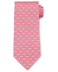 Whale print silk tie medium 705030