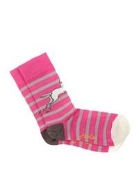 Joules Brill Bamboo Socks Pink Stripe