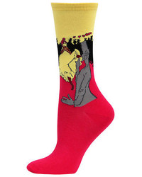 Hot Sox Lautrec Print Socks