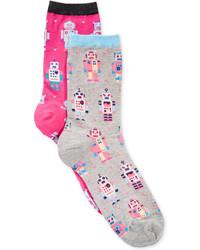 Hot Sox Space Age Print Socks