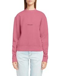 Saint Laurent Logo Reverse Weave Sweatshirt