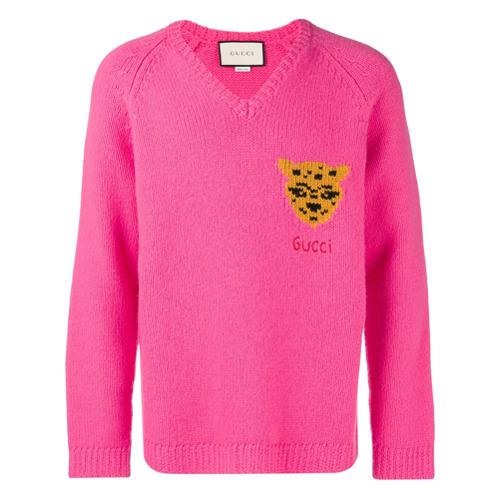 11faee8fee2 ... Gucci Leopard Knit Sweater ...