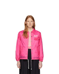 Comme Des Garçons Girl Pink Logo Coaches Jacket