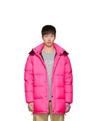 Kenzo Pink Down Elongated Puffer Jacket