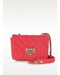Moschino Pink Quilted Eco Leather Shoulder Bag
