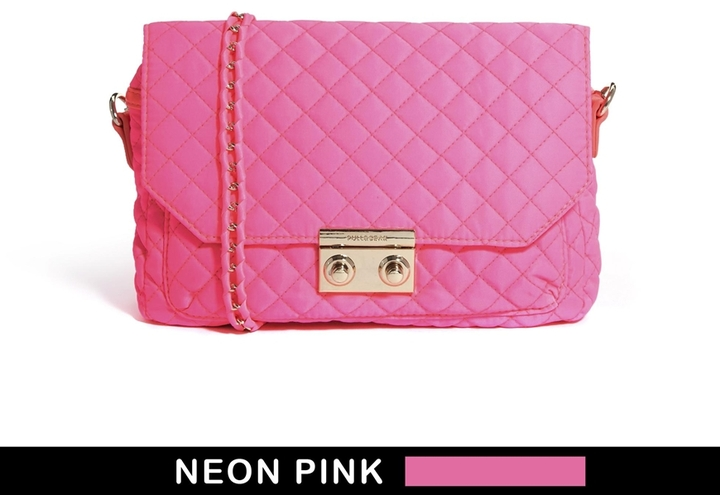 Pull&Bear Quilted Bag In Neon Pink   Where to buy & how to wear : pink quilted bag - Adamdwight.com