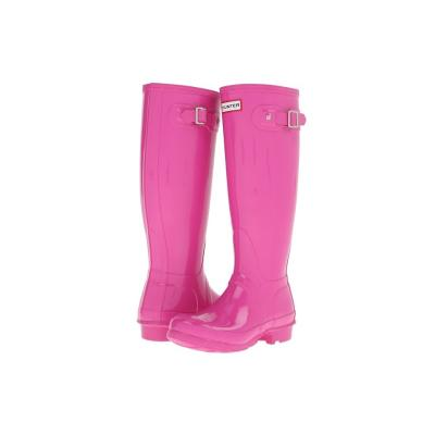 hot pink rain boots hunter original gloss rain boots