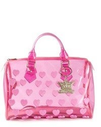 Mia bag transparent heart print tote medium 46117