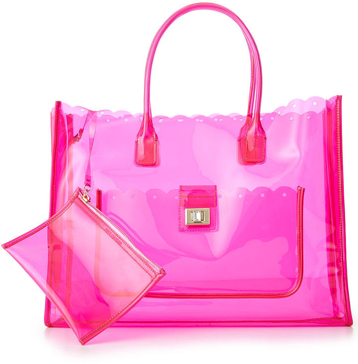 Juicy Couture Silverlake Clear Beach Tote | Where to buy & how to wear