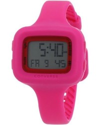 Converse Vr025615 Understatet Classic Digital And Pink Silicone Strap Watch