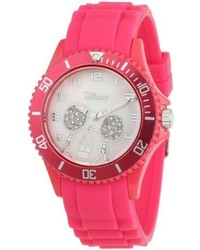EWatchFactory Disney W000589 Mickey Mouse Pink Silicone Strap Watch