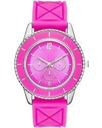 jcpenney Fashion Watches Colorful Quilted Silicone Strap Watch