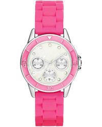 jcpenney Fashion Watches Crystal Accent Multifunction Look Silicone Strap Watch
