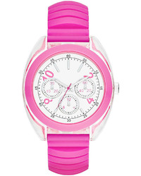 jcpenney Fashion Watches Multifunction Look Silicone Expansion Strap Watch