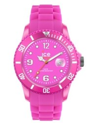 Watch Ice Flashy Neon Pink Silicone Strap 43mm 101977