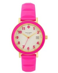 Kate Spade New York Metro Pink Silicone Strap Watch 36mm 1yru0415