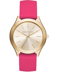 Michael Kors Michl Kors Slim Runway Sporty Pink Silicone Strap Watch 42mm Mk2510