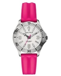 Nautica Watch Pink Silicone Strap 36mm N11531m