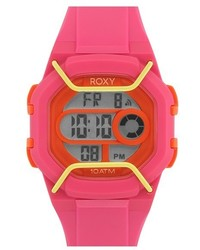 Roxy The Guard Digital Chronograph Silicone Strap Watch 35mm
