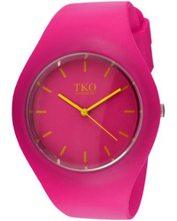 jcpenney Tko Orlogi Candy Ii Pink Silicone Strap Sport Watch
