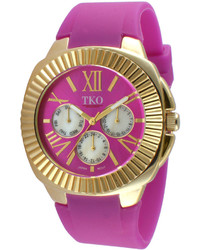 jcpenney Tko Orlogi Purple Silicone Strap Sport Watch