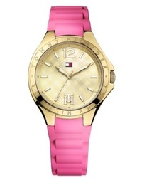 Tommy Hilfiger Pink Silicone Strap Watch 38mm 1781387