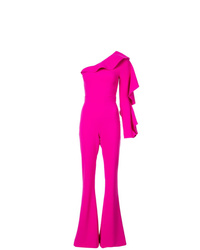 Christian Siriano One Shoulder Tailored Jumpsuit